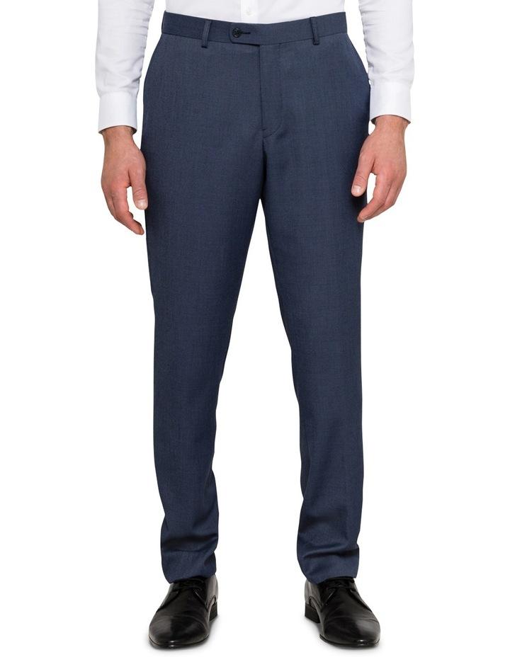 Slim Birdseye Blue Suit Trouser image 1