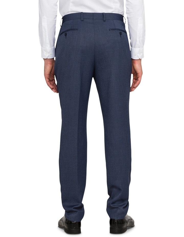 Slim Birdseye Blue Suit Trouser image 2
