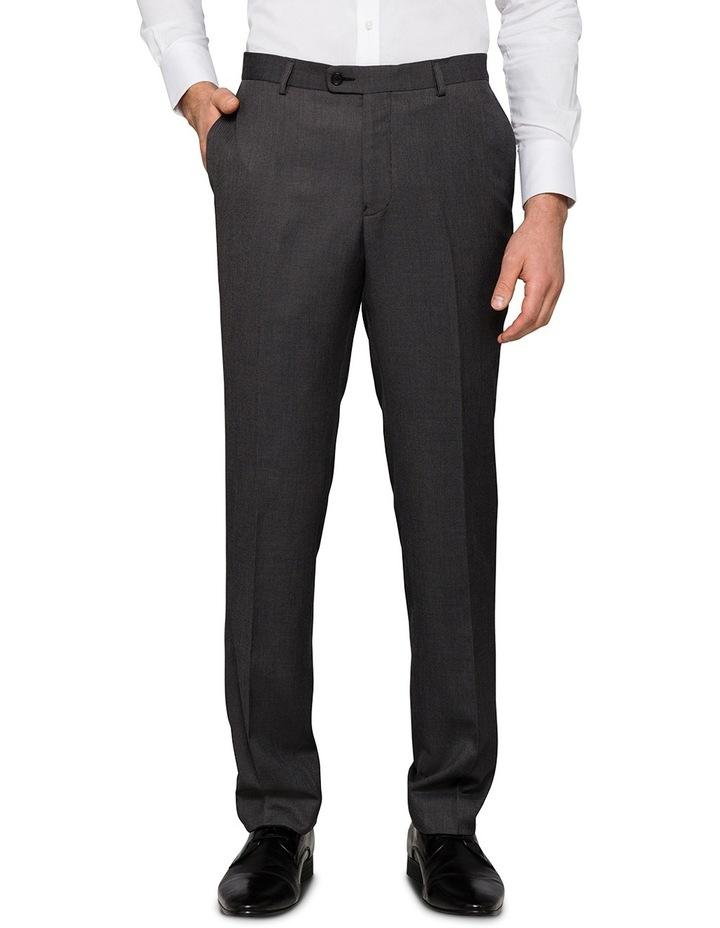 Slim Birdseye Grey Suit Trouser image 1