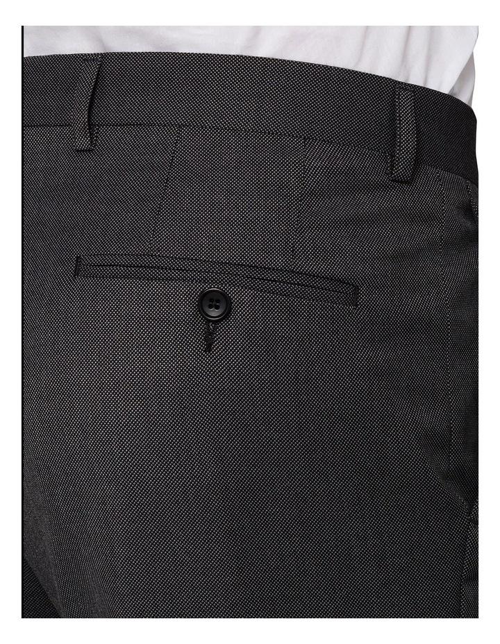 Slim Birdseye Grey Suit Trouser image 3