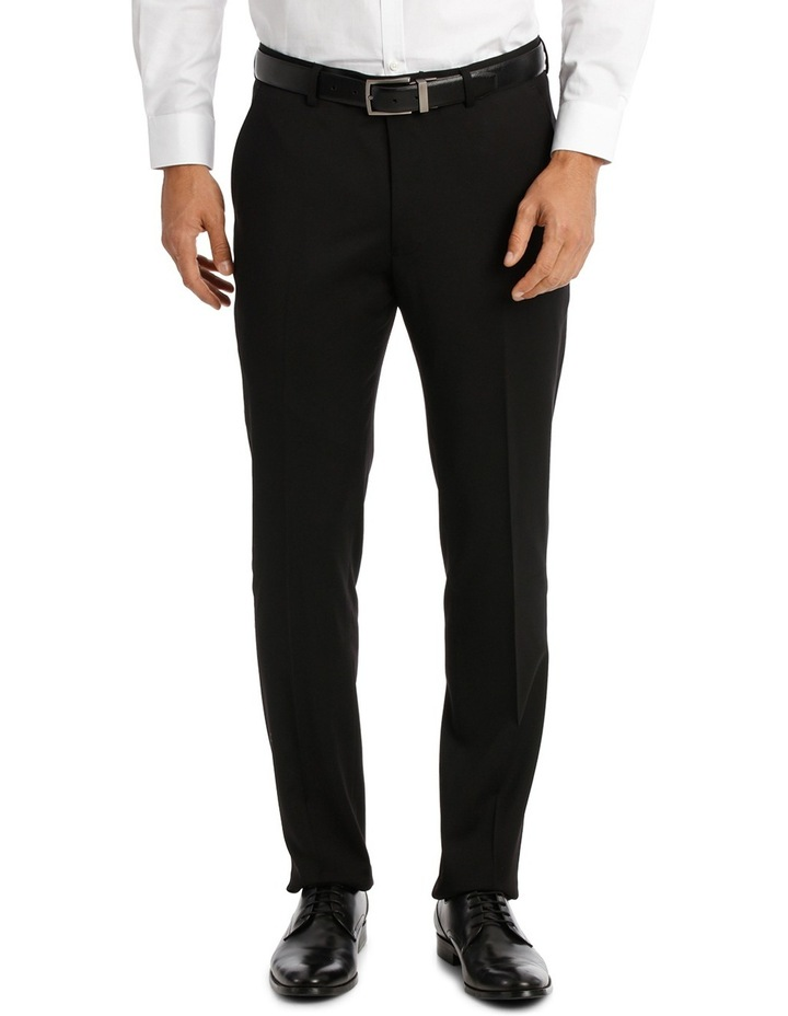 Textured Plain Performance Stretch Suit Trousers image 1