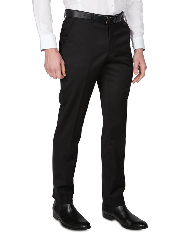 Textured Plain Performance Stretch Suit Trousers image 2