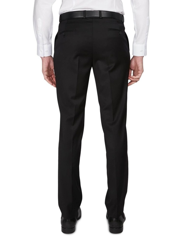 Textured Plain Performance Stretch Suit Trousers image 3
