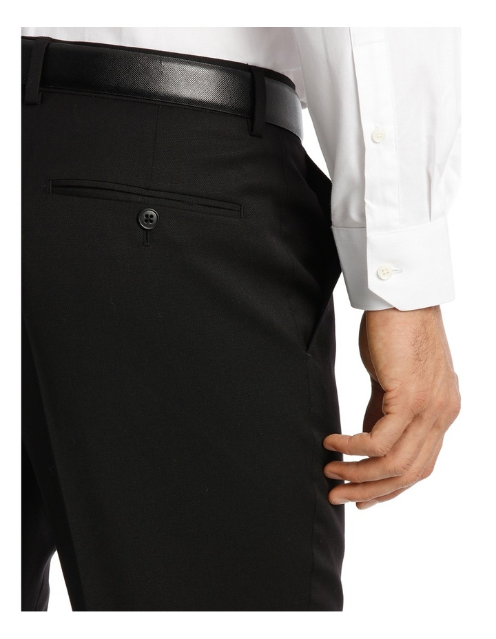 Textured Plain Performance Stretch Suit Trousers image 4