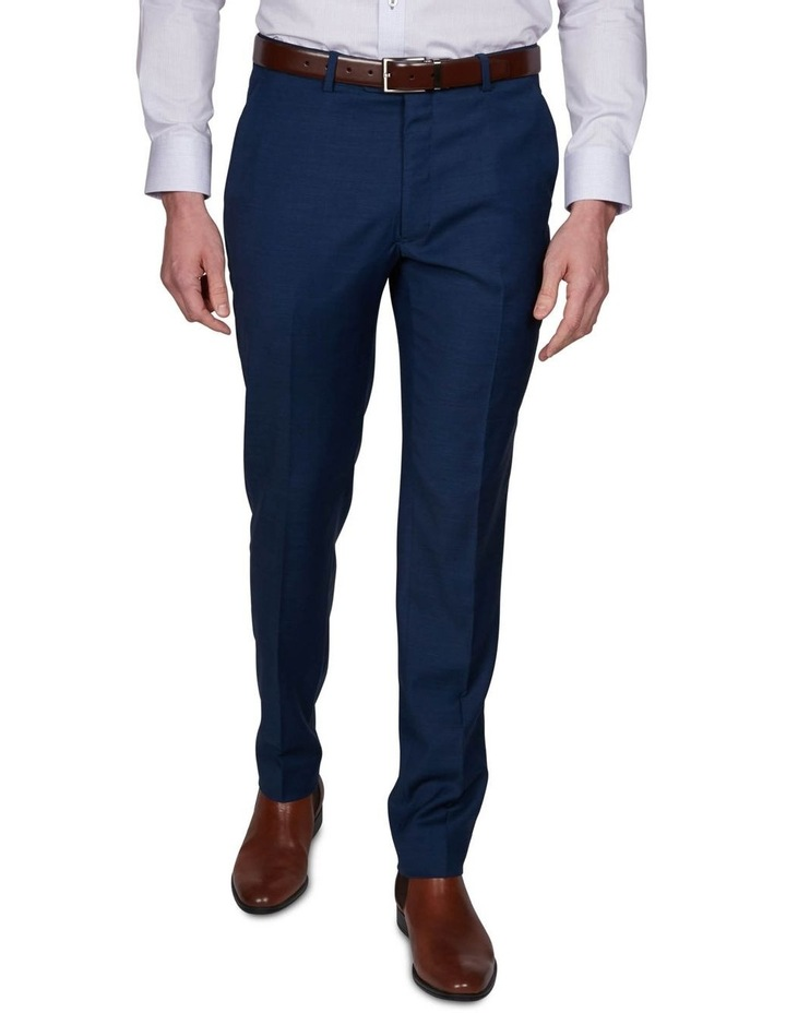 Two Tone Pinpoint Performance Stretch Suit Trousers image 1