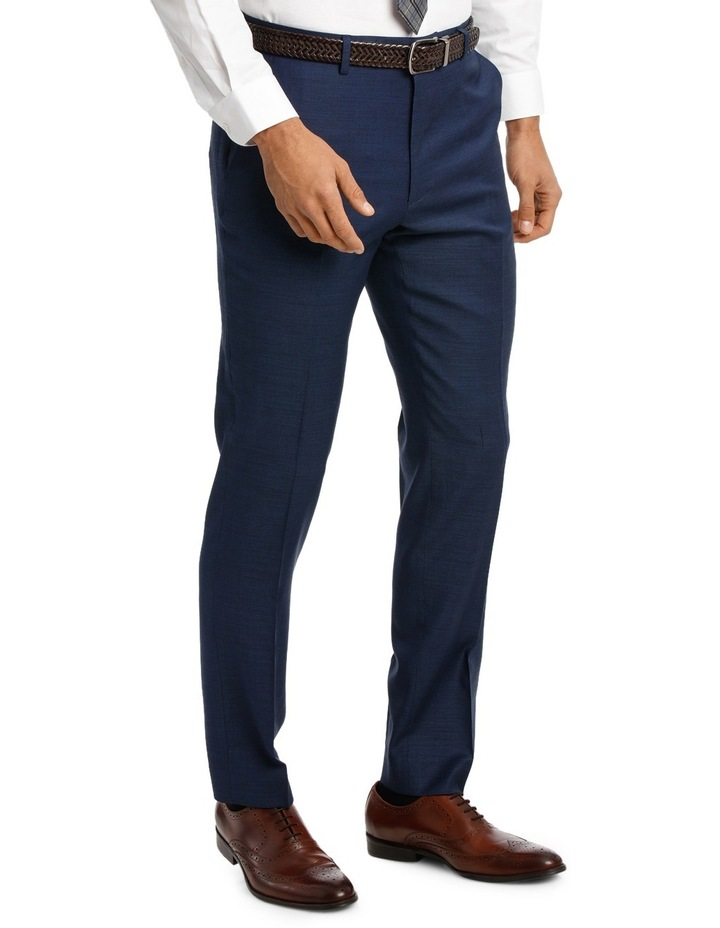 Two Tone Pinpoint Performance Stretch Suit Trousers image 2