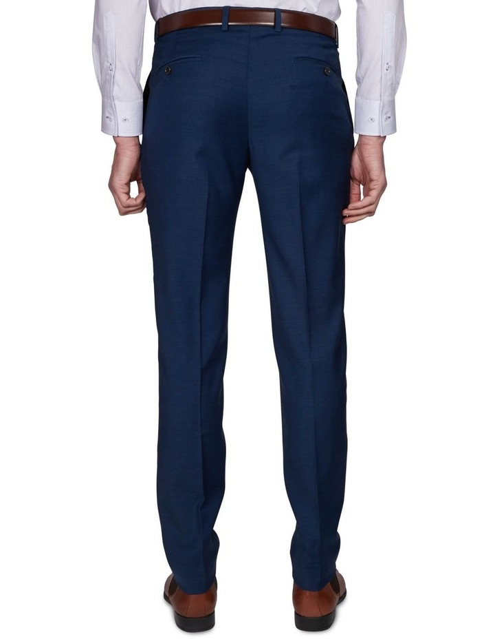 Two Tone Pinpoint Performance Stretch Suit Trousers image 3