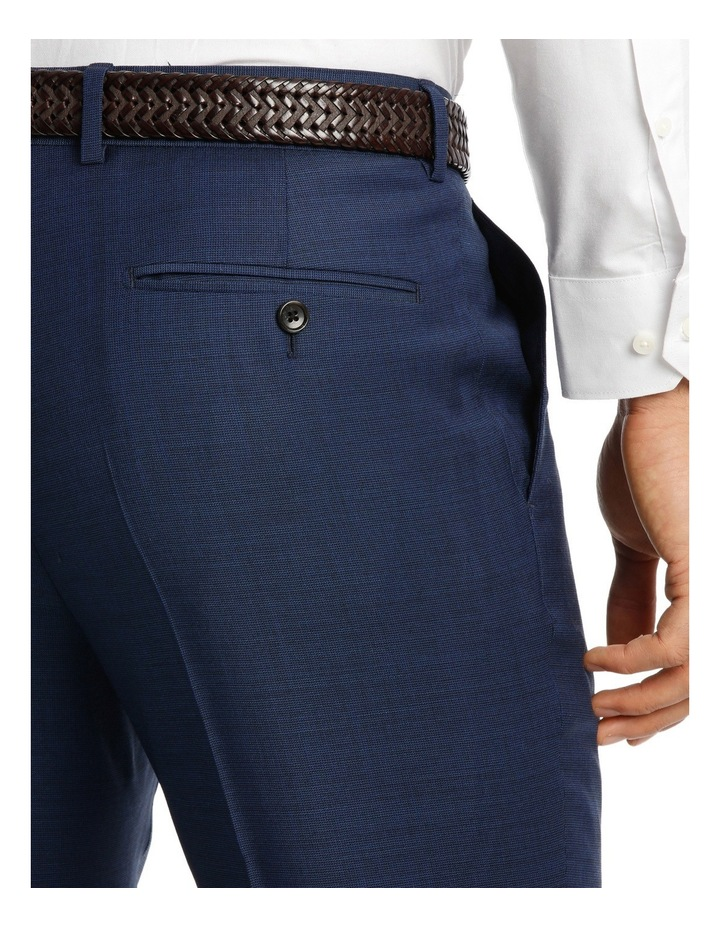 Two Tone Pinpoint Performance Stretch Suit Trousers image 4