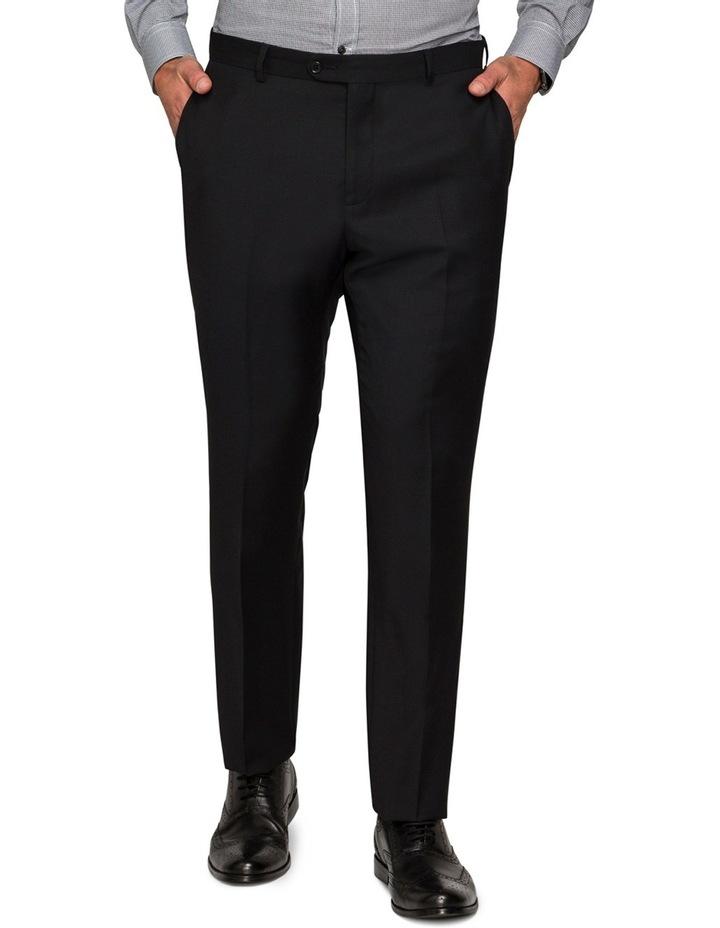 Black Textured Suit Pant image 1