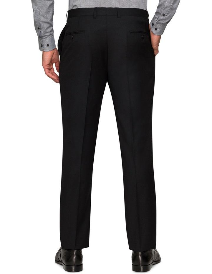 Black Textured Suit Pant image 2