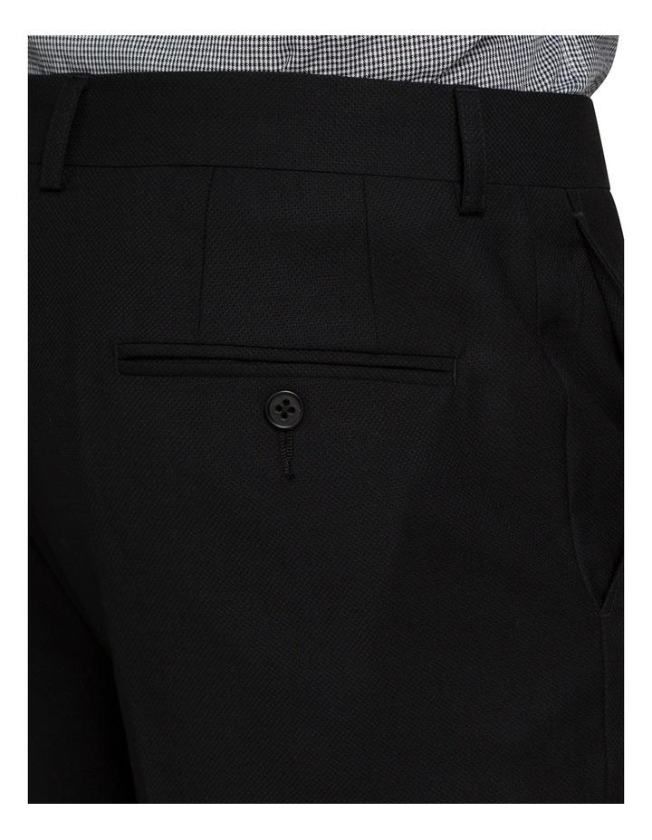 Black Textured Suit Pant image 3