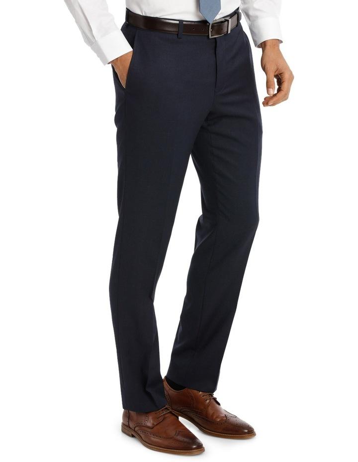 Navy Textured Suit Pant Slim M510_ RNVB image 2