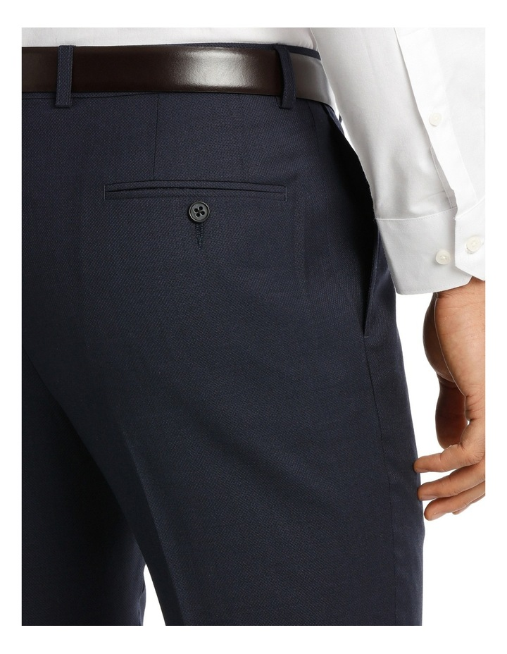 Navy Textured Suit Pant Slim M510_ RNVB image 4