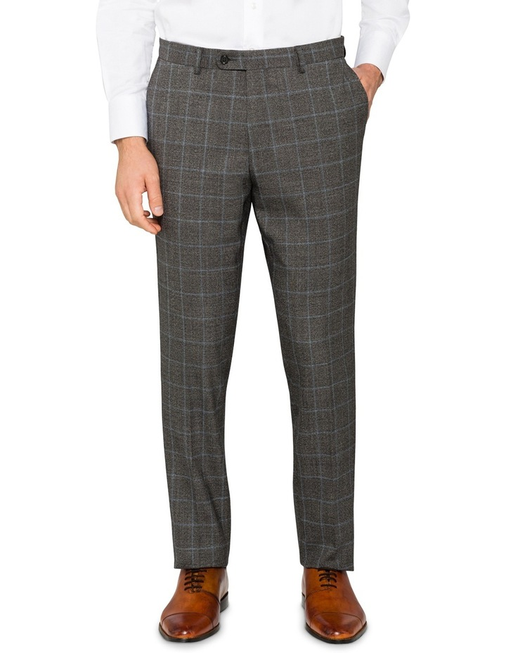 Charcoal With Blue Check Suit Pant CPXM005Z_CBLK image 1