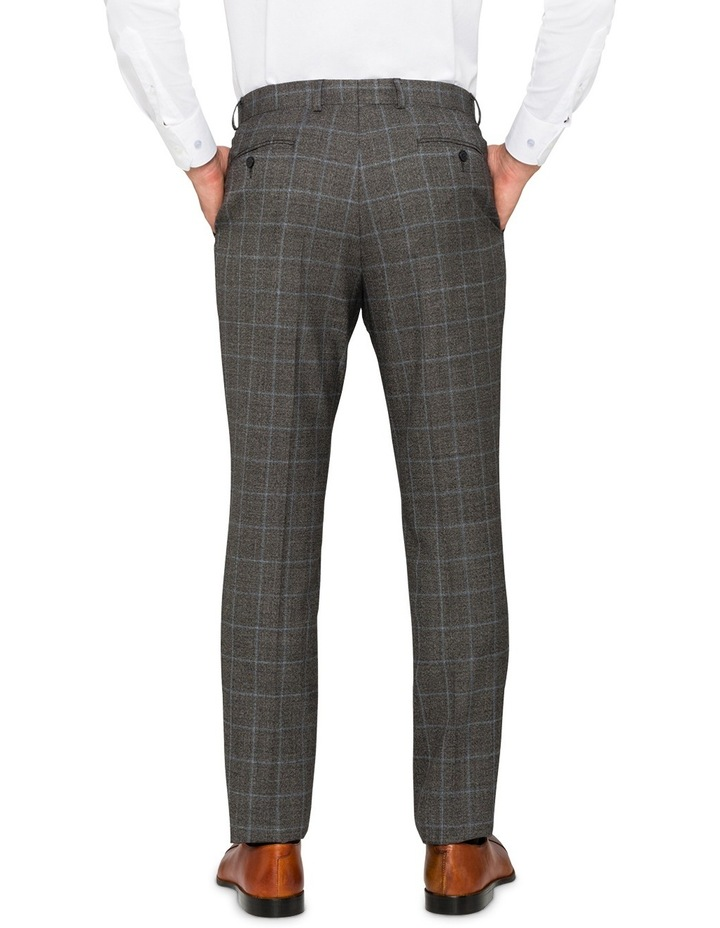 Charcoal With Blue Check Suit Pant CPXM005Z_CBLK image 2