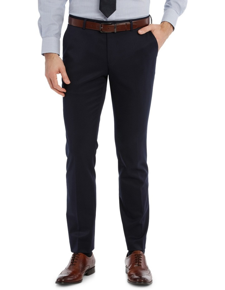 Solid Navy Suit Pant image 1
