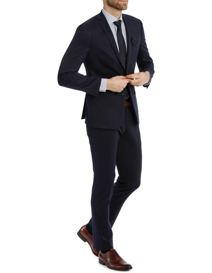 Solid Navy Suit Pant image 2