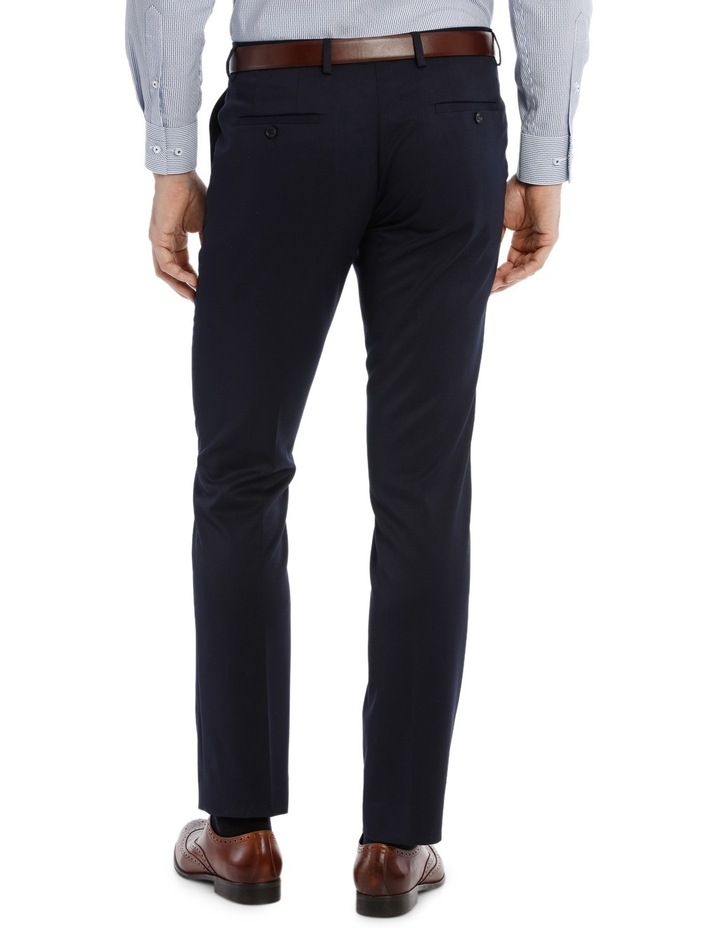 Solid Navy Suit Pant image 3