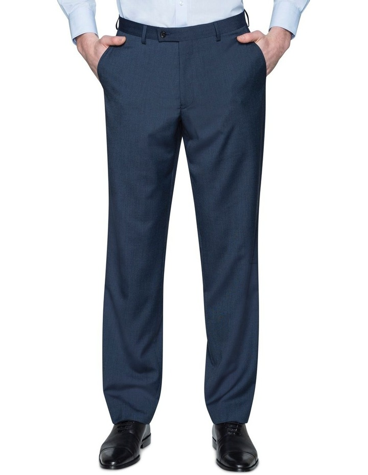 SOLID TEXTURED SUIT TROUSER image 1