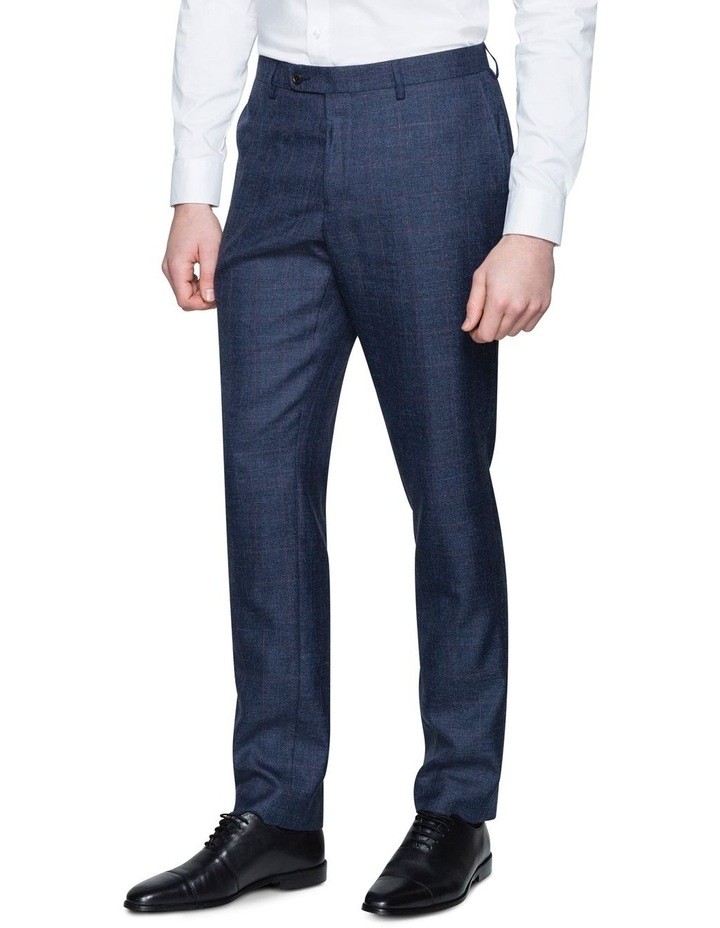 WINDOWPANE CHECK SUIT TROUSER image 1