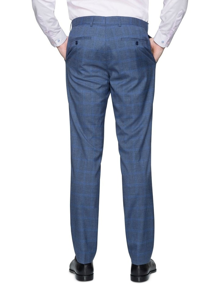 Denim Windowpane Check Suit Trouser image 2
