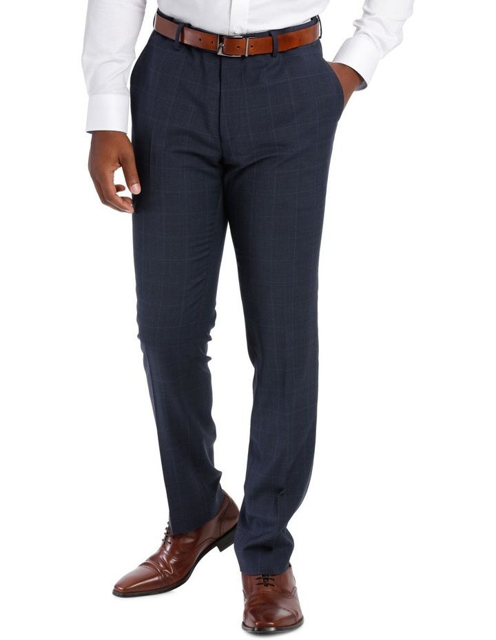 Check Suit Trouser Navy image 1
