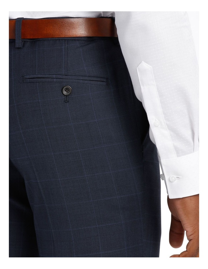 Check Suit Trouser Navy image 4