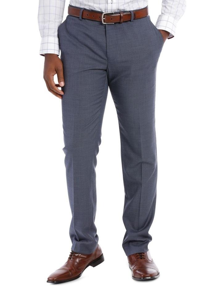 Textured Plain Suit Trouser Steel image 1