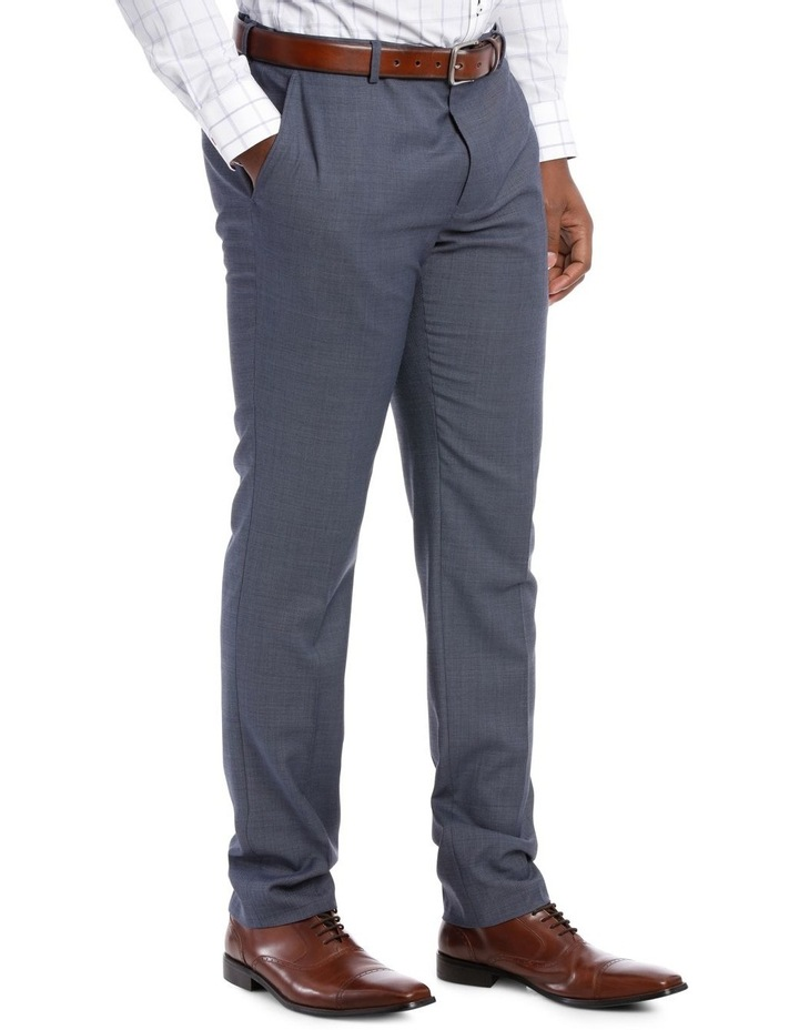 Textured Plain Suit Trouser Steel image 2