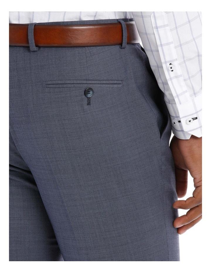 Textured Plain Suit Trouser Steel image 4
