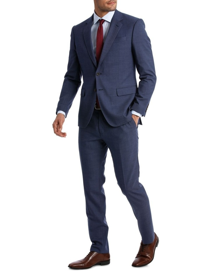 MICRO TWILL SUIT TROUSER BLUE image 2