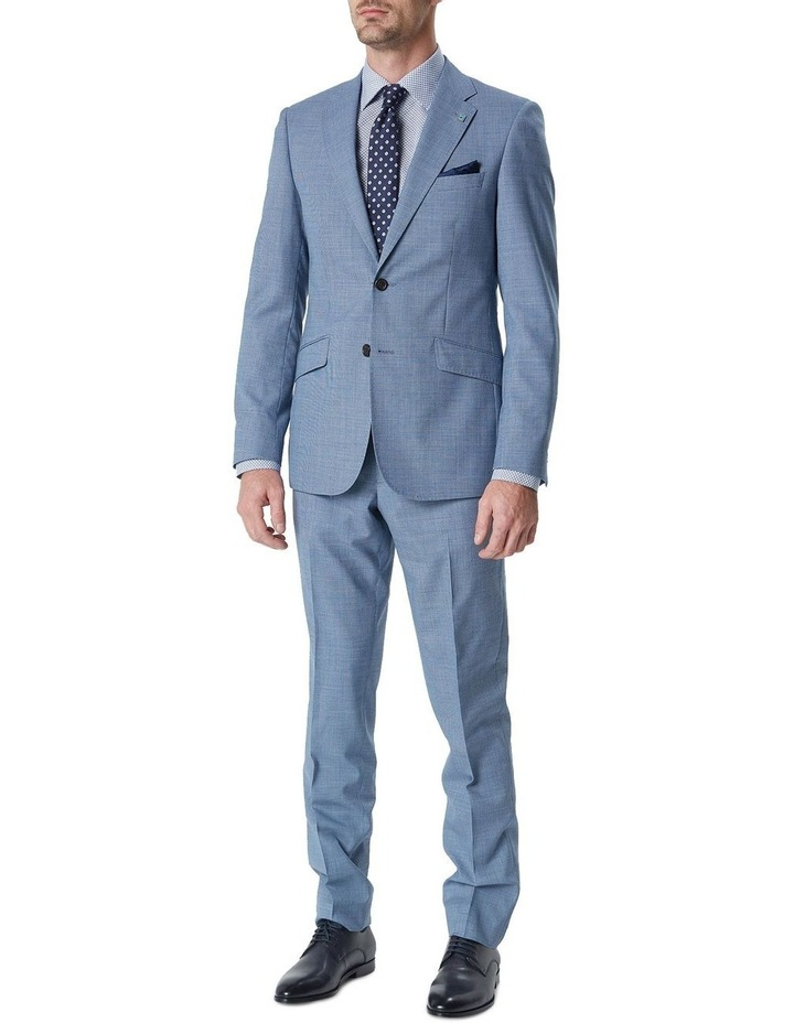 Hearts Blue Micro Texture Wool Suit Trouser image 1