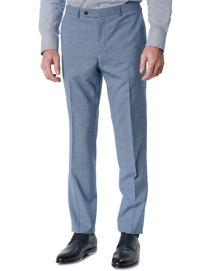 Hearts Blue Micro Texture Wool Suit Trouser image 2