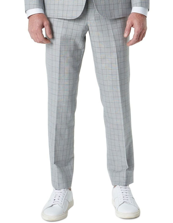Hearts Light Grey Wool Linen Check Suit Trouser image 1