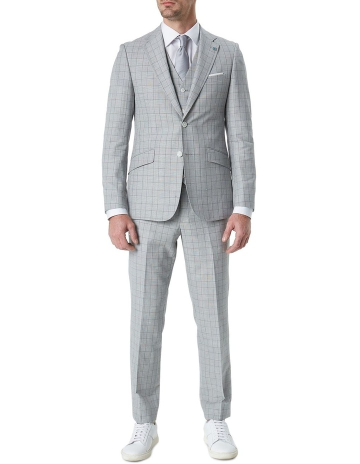 Hearts Light Grey Wool Linen Check Suit Trouser image 2