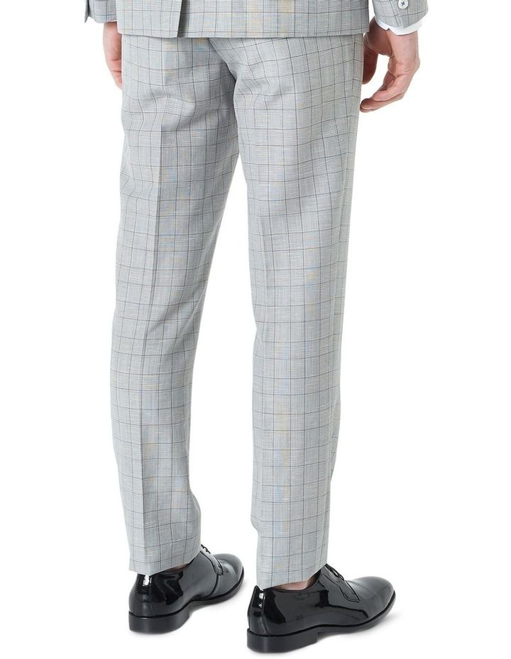 Hearts Light Grey Wool Linen Check Suit Trouser image 3