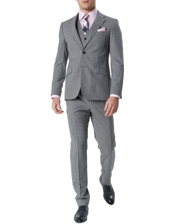 Hearts Grey Micro Texture Wool Suit Trouser image 2