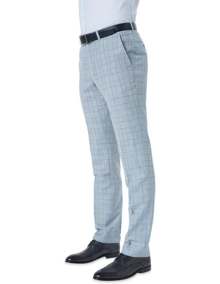 Hearts Light Blue Wool Linen Check Suit Trouser image 1