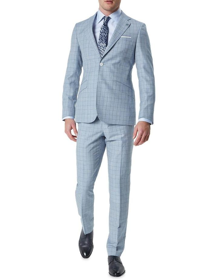 Hearts Light Blue Wool Linen Check Suit Trouser image 3
