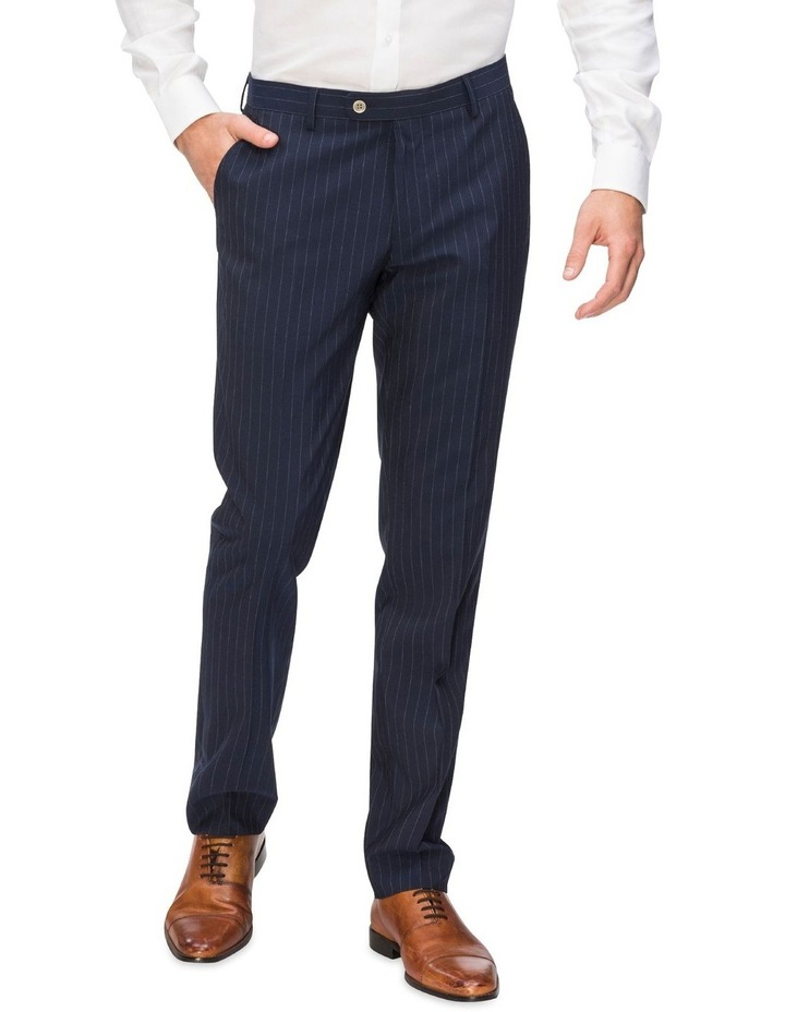 Pinstripe Suit Trouser With Elastic image 1