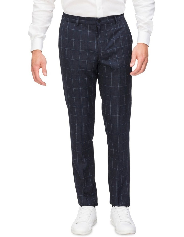 Check Suit Trouser With Elastic Waist image 1