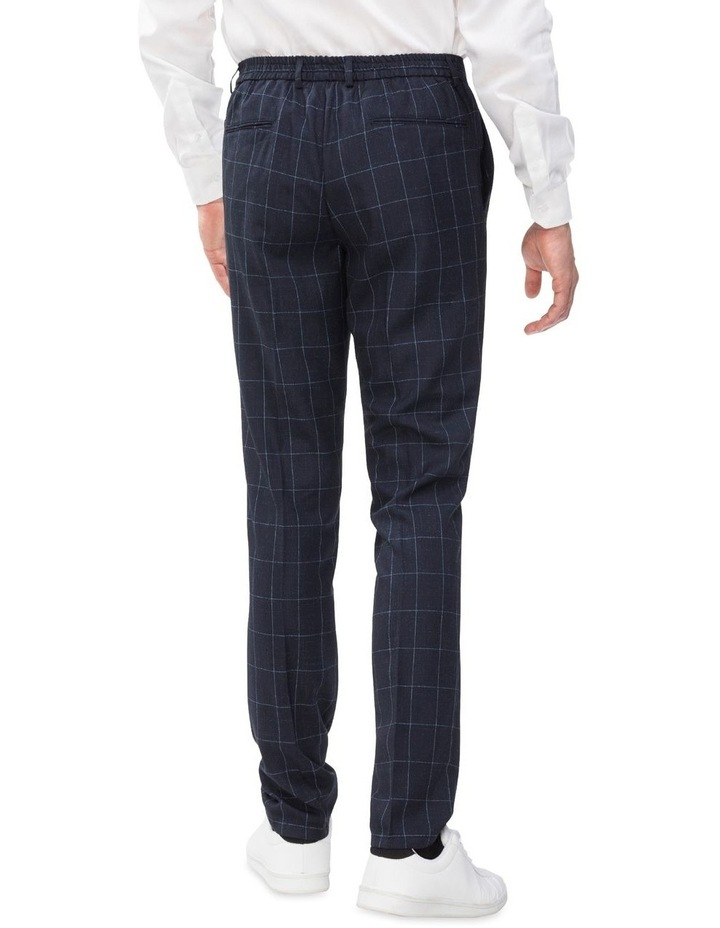 Check Suit Trouser With Elastic Waist image 2