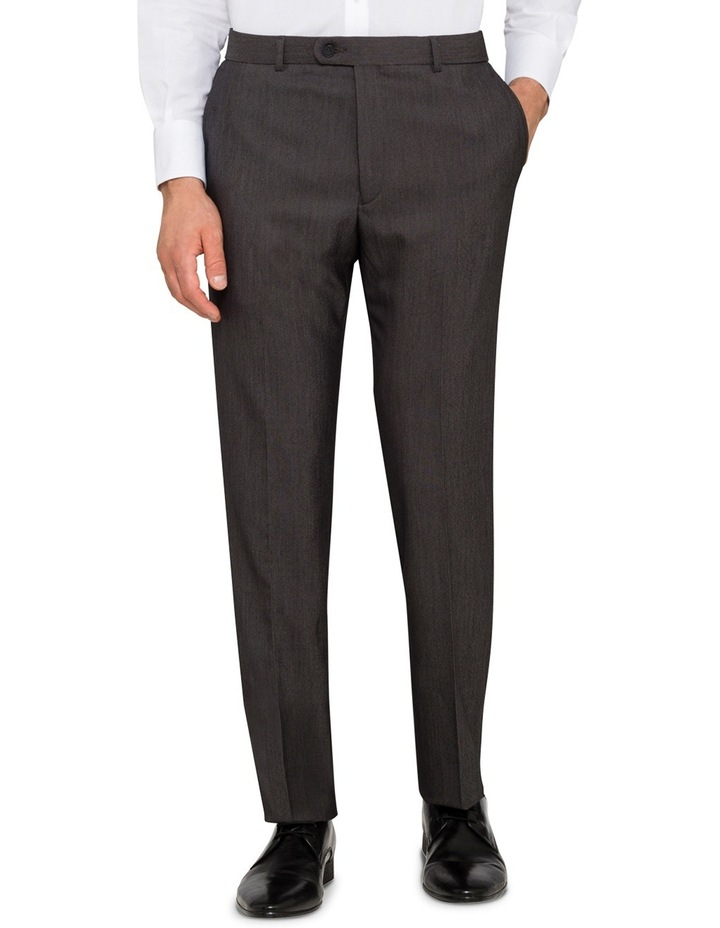 Slim Fit - Charcoal Birdseye Suit Pant image 1