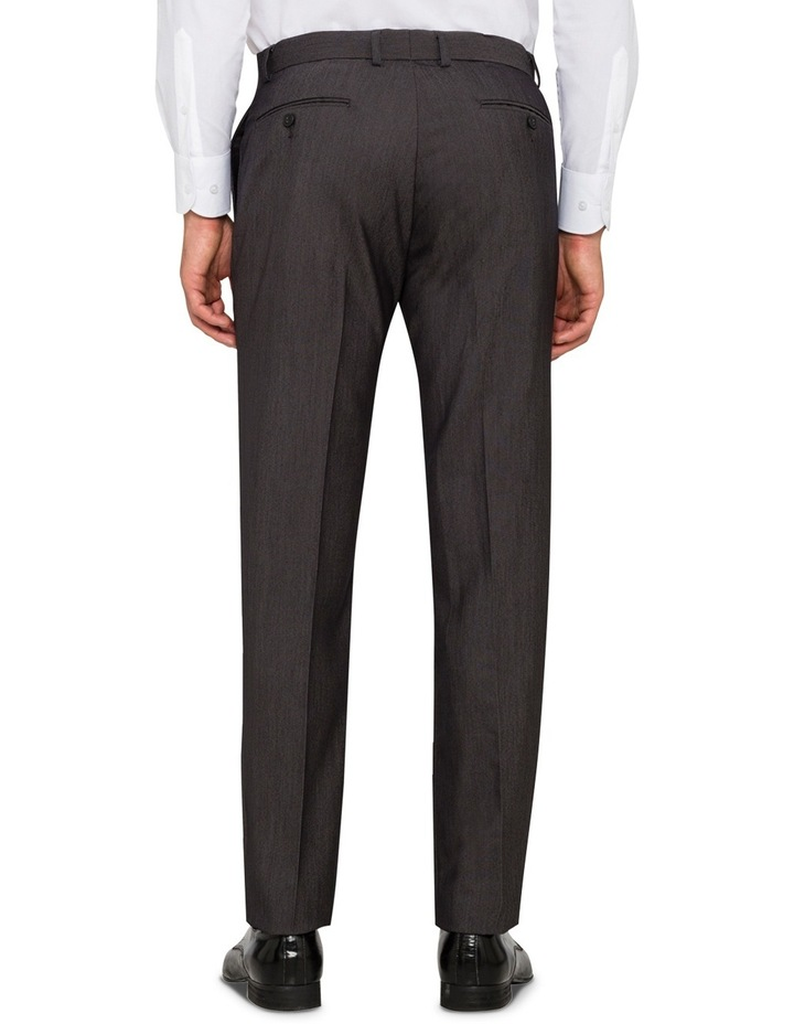 Slim Fit - Charcoal Birdseye Suit Pant image 2