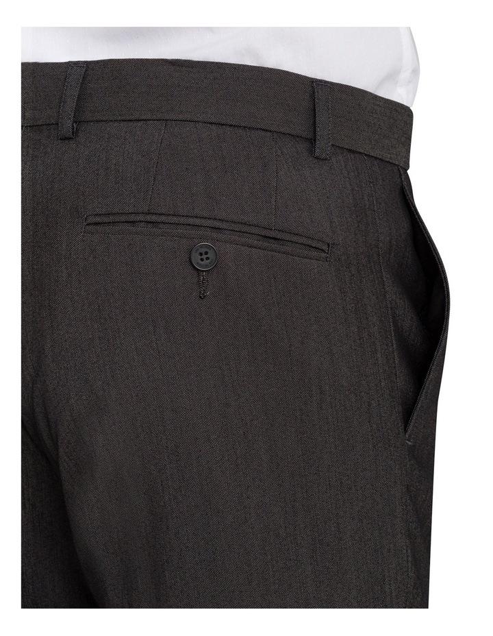 Slim Fit - Charcoal Birdseye Suit Pant image 3