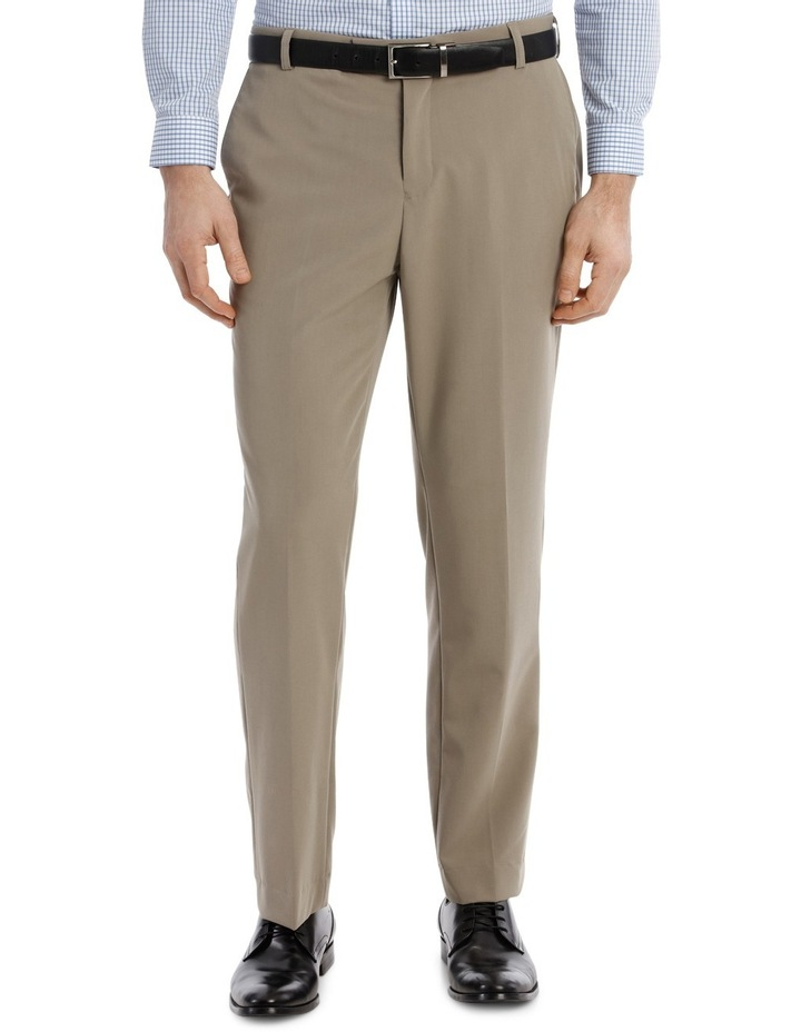 4 Way Stretch Taupe Trouser image 1