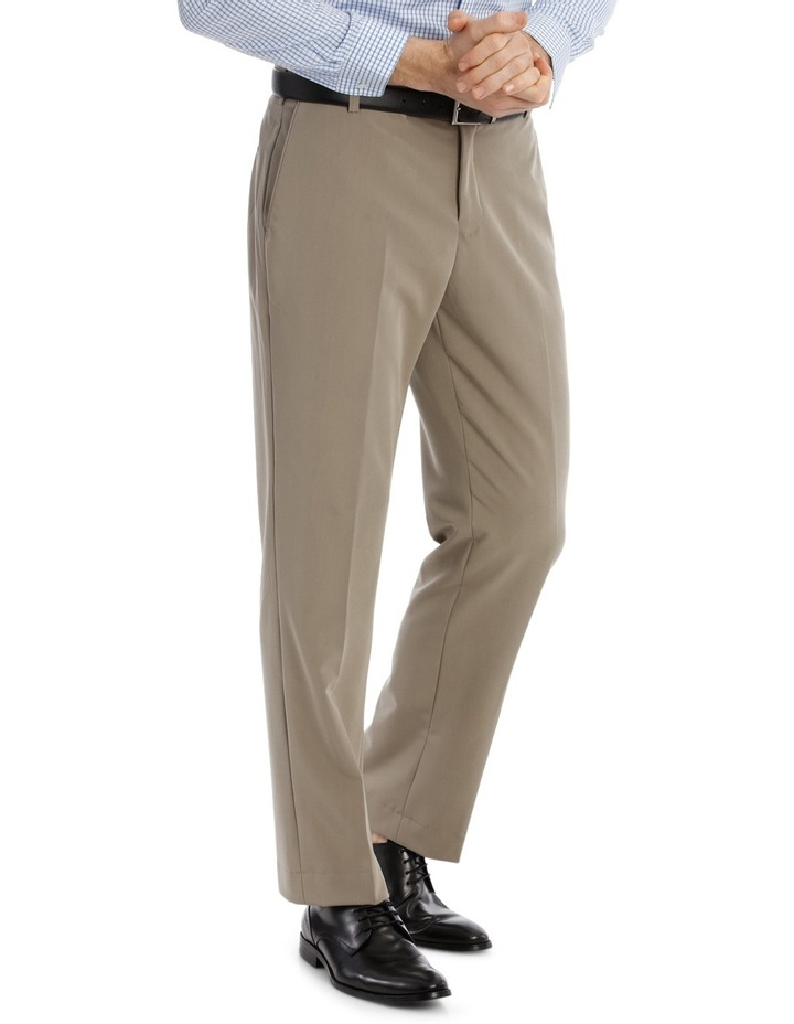 4 Way Stretch Taupe Trouser image 2