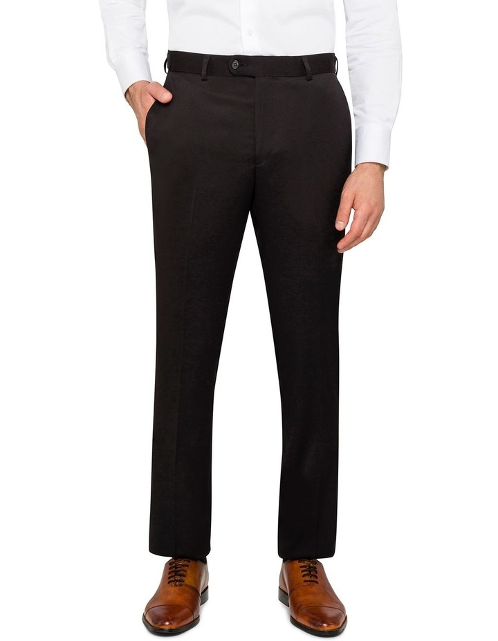 BLACK FALSE PLAIN TROUSER image 1