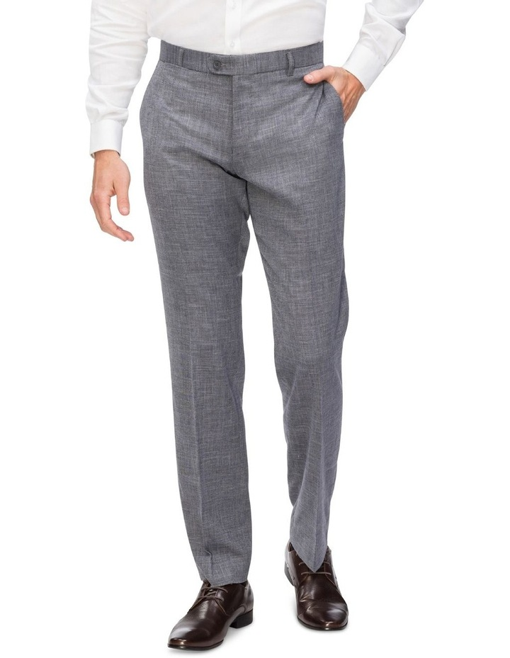 Textured Plain Trousers image 1