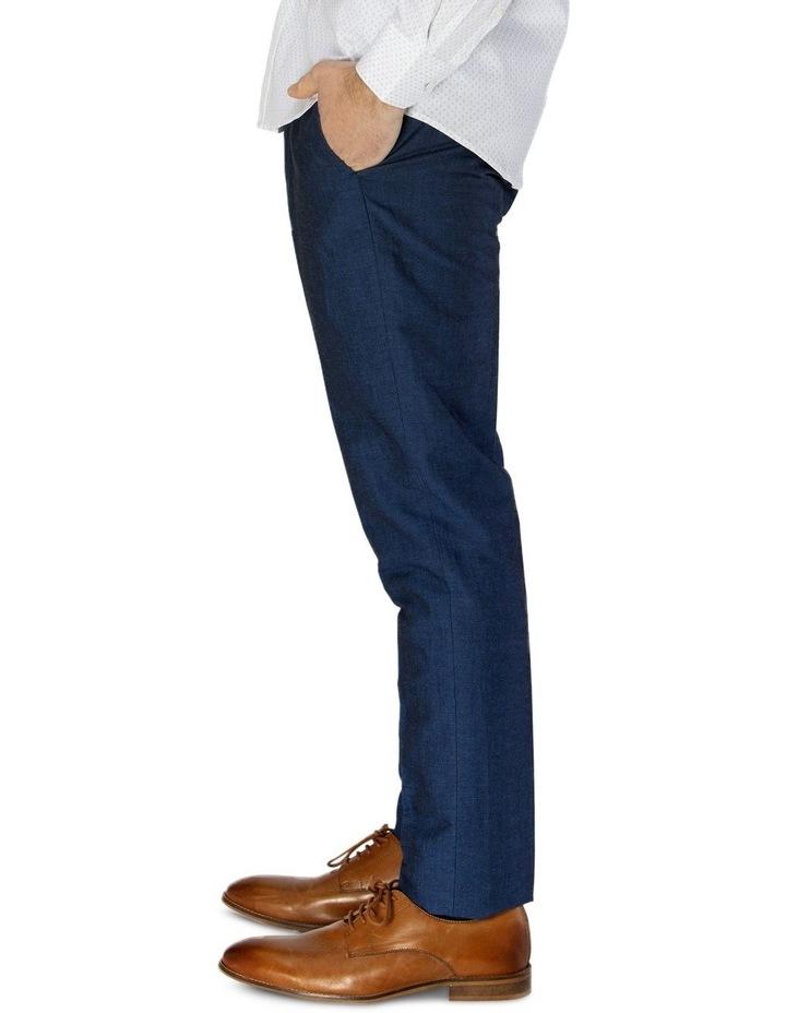 Linen Blend Textured Plain Trouser image 2
